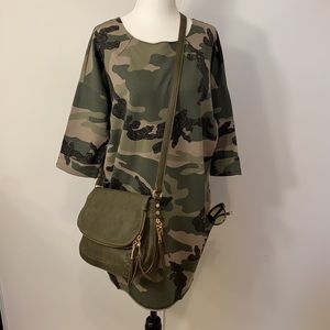 Wi & Co Camo Belted cotton summer dress